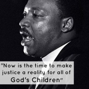 """Now is the time to make justice a reality for all of God's Children."""